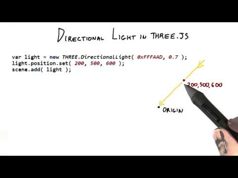 Directional Light in threejs - Interactive 3D Graphics thumbnail