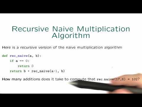Recursive Naive - Intro to Algorithms thumbnail