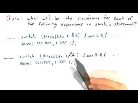 Switch Statements and Thread Divergence Part2 - Intro to Parallel Programming thumbnail