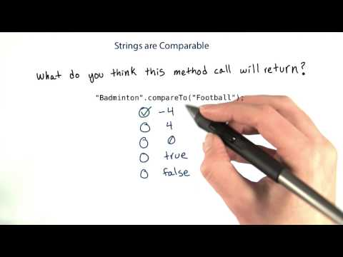 Strings Are Comparable - Intro to Java Programming thumbnail