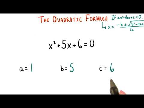 The Quadratic Formula - College Algebra thumbnail