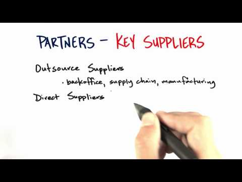 Key Suppliers - How to Build a Startup thumbnail
