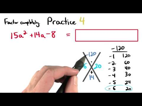 Factoring Practice 4 - Visualizing Algebra thumbnail