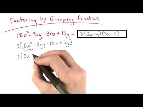 Factor by Grouping Practice 4 - Visualizing Algebra thumbnail