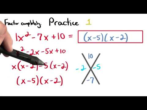 Factoring Practice 1 - Visualizing Algebra thumbnail