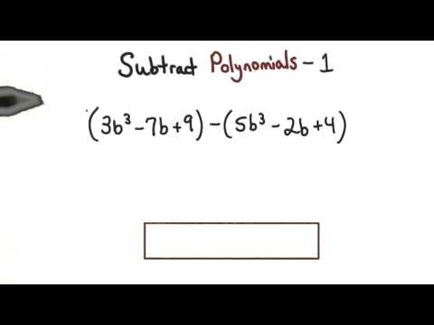 Subtract Polynomials Practice 1 - Visualizing Algebra thumbnail