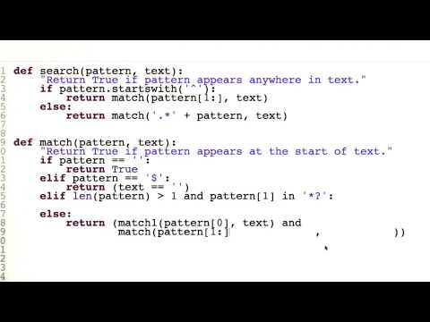 Regular Expressions Review - Quiz 3 - Design of Computer Programs thumbnail
