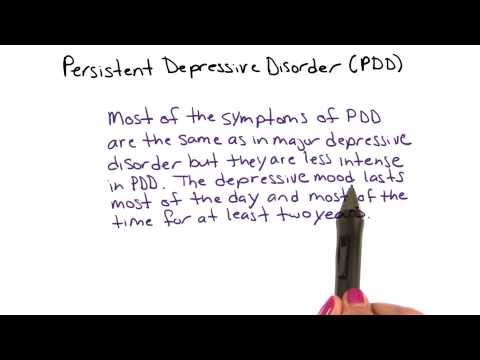 Persistent depressive disorder - Intro to Psychology thumbnail