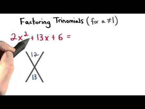Factoring Polynomials a Value Not Equal to One - Visualizing Algebra thumbnail