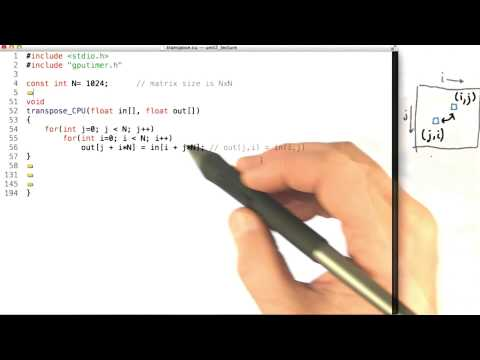 Transpose Code Example Part1 - Intro to Parallel Programming thumbnail