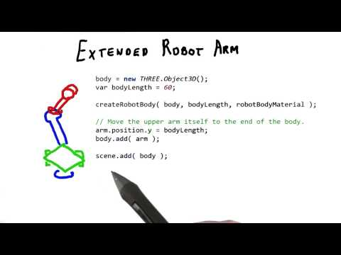 Extended Robot Arm - Interactive 3D Graphics thumbnail