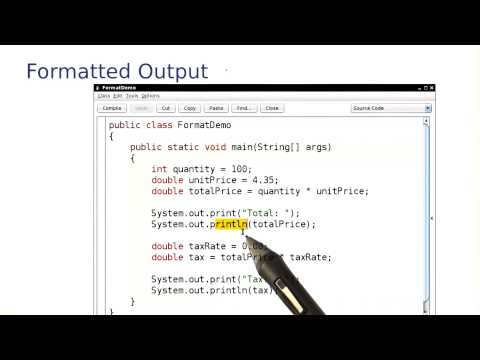 Formatted Output - Intro to Java Programming thumbnail