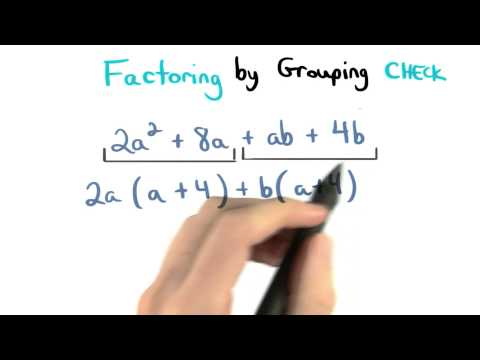 Factor by Grouping Check - Visualizing Algebra thumbnail