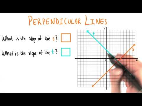 More Perpendicular Lines - College Algebra thumbnail