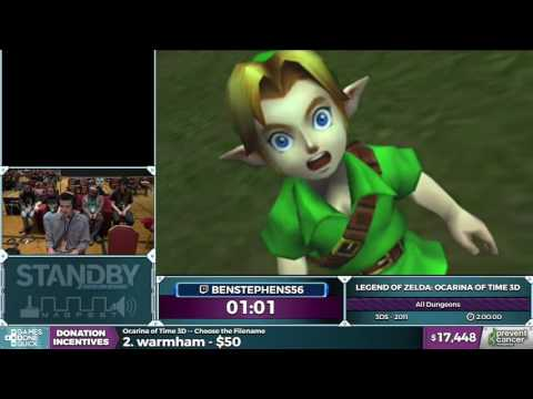 LoZ: Ocarina of Time 3D by Benstephens56 in 1:57:23 - Awesome Games