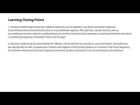 Learning closing points - Intro to Psychology thumbnail