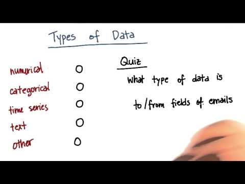 Types of Data Quiz 6 - Intro to Machine Learning thumbnail