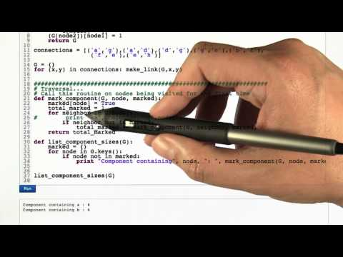 Connected Components Code - Intro to Algorithms thumbnail