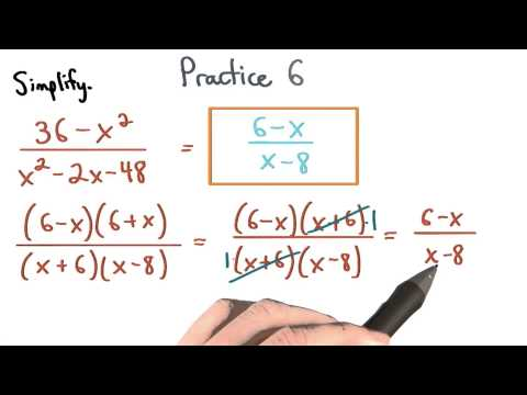 Simplify Rational Expressions Practice 6 - Visualizing Algebra thumbnail