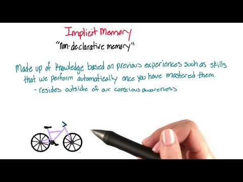 Implicit (non-declarative) memory - Intro to Psychology thumbnail