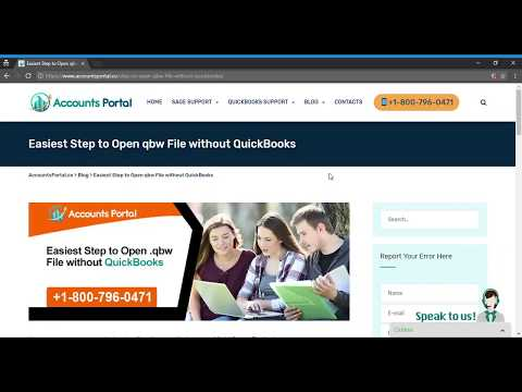 Step to Open qbw File without QuickBooks Easily:+1-800-796