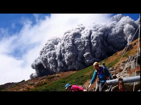 Japan's Mount Ontake volcano erupted/eruption, killing 34 people, report BBC (corrected aspect) thumbnail