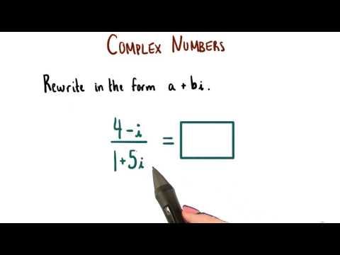 Dividing Complex Numbers - College Algebra thumbnail