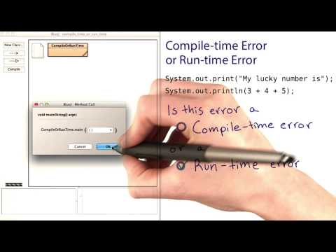 Compile-Time and Runtime Errors 2 - Intro to Java Programming thumbnail
