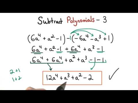 Subtract Polynomials Practice 3 - Visualizing Algebra thumbnail