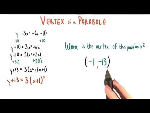 Write down the vertex - College Algebra thumbnail