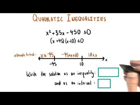 Inequalities and Intervals - College Algebra thumbnail