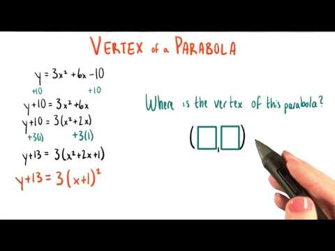 Write down the vertex - College Algebra thumbnail