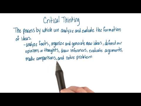 Critical thinking - Intro to Psychology thumbnail