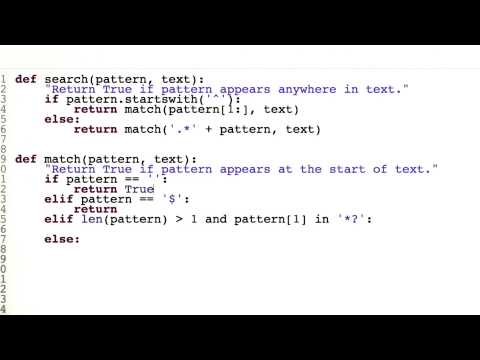 Regular Expressions Review - Quiz 2 - Design of Computer Programs thumbnail