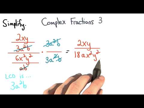 Complex Fractions Practice 3 - Visualizing Algebra thumbnail