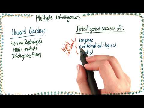Howard Gardner and multiple intelligences - Intro to Psychology thumbnail