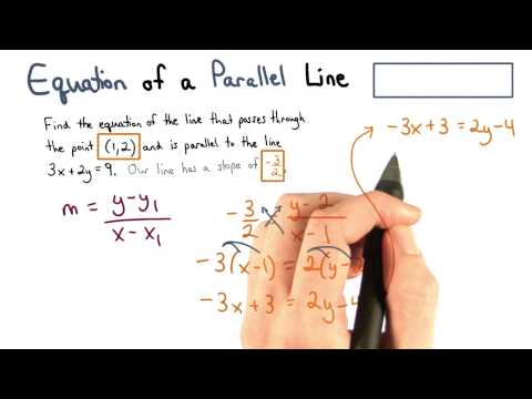 Equation of a Parallel Line - Visualizing Algebra thumbnail