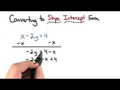 Converting to Slope Intercept Form - Visualizing Algebra thumbnail