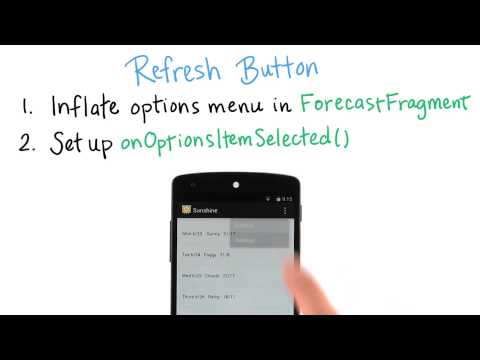Refresh Button Behavior - Developing Android Apps thumbnail