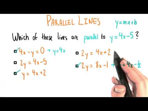 Parallel Lines - College Algebra thumbnail
