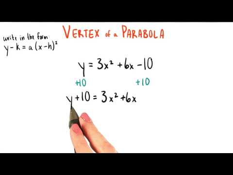 Moving toward Vertex Form - College Algebra thumbnail