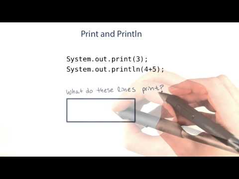 print and println - Intro to Java Programming thumbnail