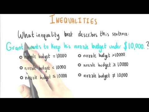 Nozzle Price Inequality - College Algebra thumbnail
