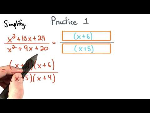 Simplify Rational Expressions Practice 1 - Visualizing Algebra thumbnail