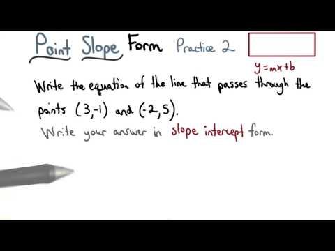 Point Slope Practice 2 - Visualizing Algebra thumbnail