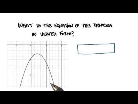 Equation of a Parabola - College Algebra thumbnail