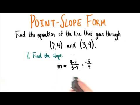 Equation Through Two Points - College Algebra thumbnail
