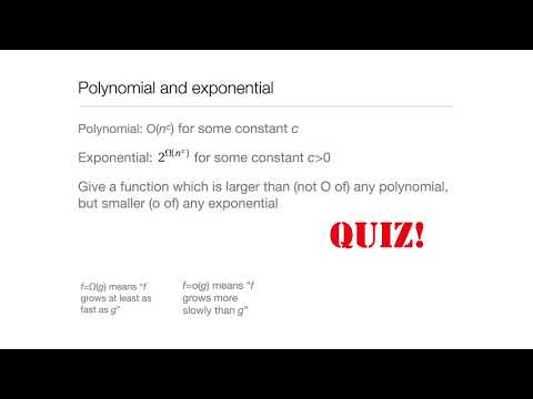 Computation in Complex Systems : Easy & Hard : BigO and All That Quiz1 thumbnail