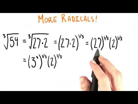 Simplest Form Of A Cube Root - College Algebra thumbnail