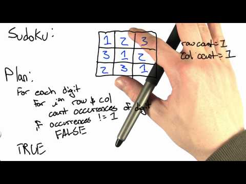 Sudoku Solution - Intro to Computer Science thumbnail